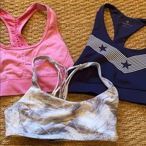assortment of sport bras
